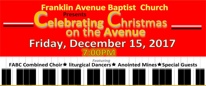 Flyer for Celebrating Christmas on  the Avenue 2017-1