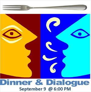 Dinner &amp; Dialogue Sept 9 Logo