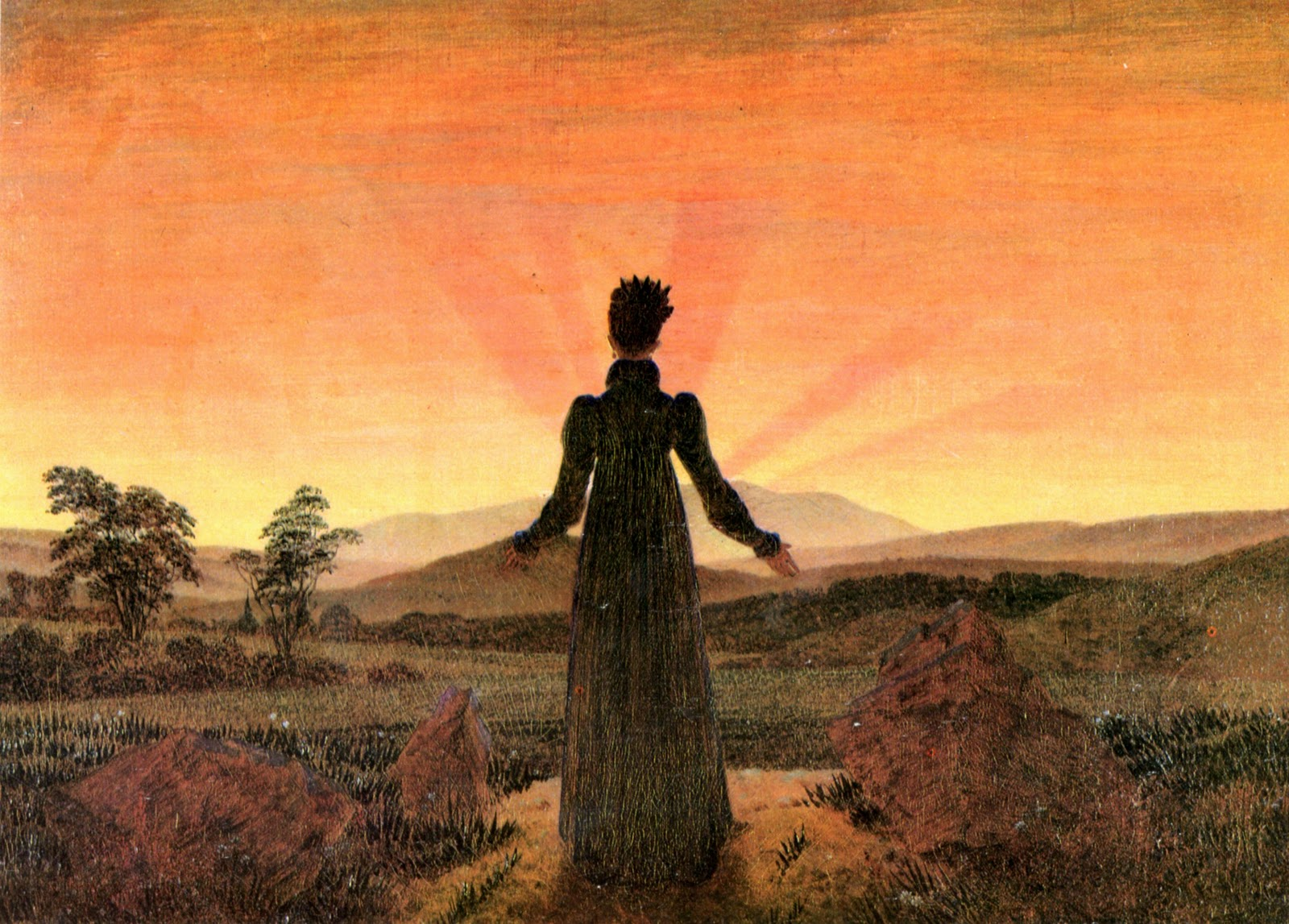 Caspar David Friedrich - Woman Before Sunset